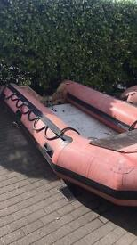 15ft Inflatable boat rib and road/launching trailer