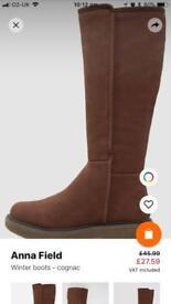 Anna field winter boots- cognac
