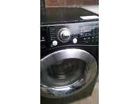 LG WASHING MACHINE WASH AND DRY 6 TO 8 KG BLACK COLOR...FREE DELIVERY