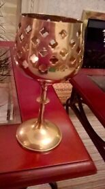 """COLLECTION OF LARGE BRASS ORNAMENTS 6"""" TO 14"""".IDEAL TABLE DISPLAY."""