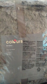 FUR THROW PACKAGED UNUSED FROM B&Q