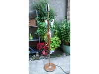 Retro 1950s Teak Floor Lamp