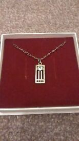 Sterling Silver Macintosh style necklace