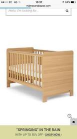 Mamas and papas cot/toddler bed