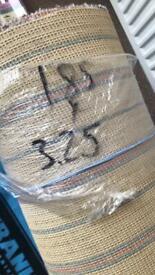 Grey carpet 1.85 x 3.25 hessian backed new