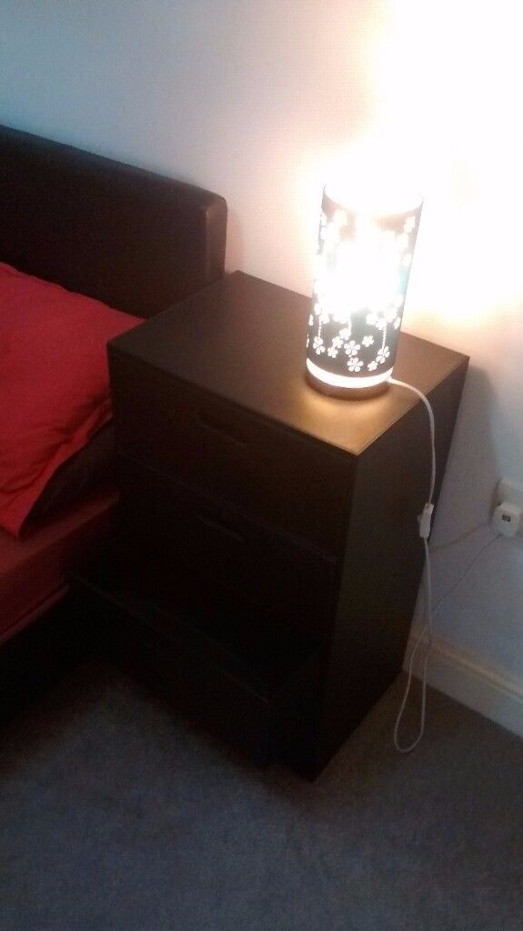 Black chest of drawers / bed table