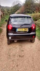 For sale black chevrolet matiz 58k miles new mot