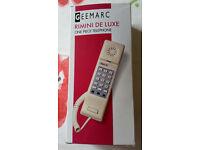 BRAND NEW IN BOX GEEMARC RIMINI DE LUXE ONE PIECE TELEPHONE