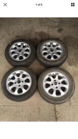 "VOLVO 15"" ALLOY WHEELS WITH TYRES SET 4 STUD ALLOYS"