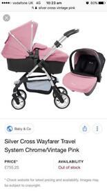 Silver cross pioneer vintage pink
