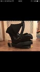 MaxiCosi car seat and EasyFix base. Free mothercare toy.
