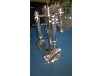 Silver Bar Set Includes bottle opener, corkscrew measure and ice spoon