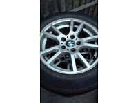 "4 x bmw 17"" alloys with tyres"