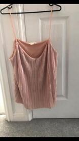 Size 12 pink top new without tags
