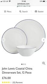 John Lewis 16 piece dinner service BRAND NEW IN BOX 2 sets avai