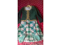 green highland dancing kilt outfit reduced from £250