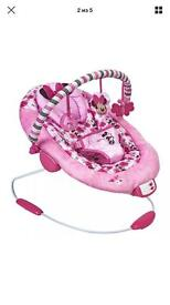 Baby girl Minnie Mouse bouncer