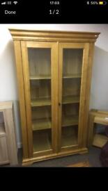 Oak Malloy display cabinet * free furniture delivery*