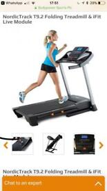 NordicTrack T9.2 folding power treadmill swop for concept 2 model D rowing machine