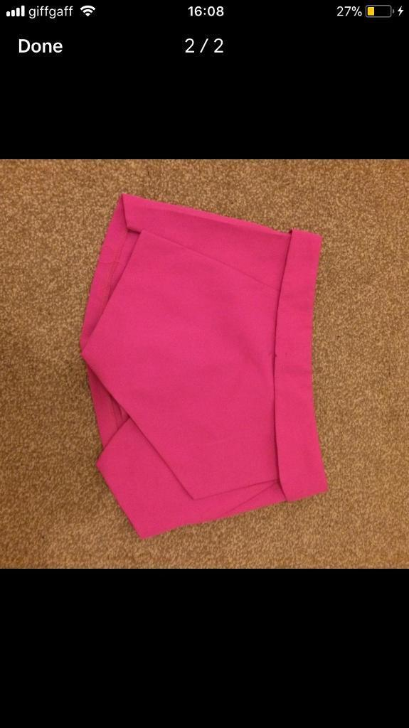 Women's pink short/shirt