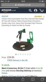 Brand new 8 spray mode 50ft extendable garden hose