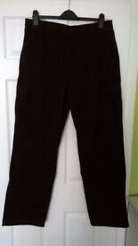 Mens Black Portwest Cargo Trousers – NEW