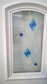 White PVC infill door panel