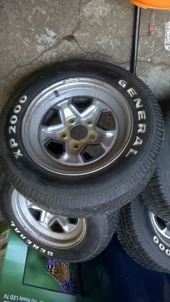 215/65/15 good tyres on chevvy g20 rims so will do van or car ,