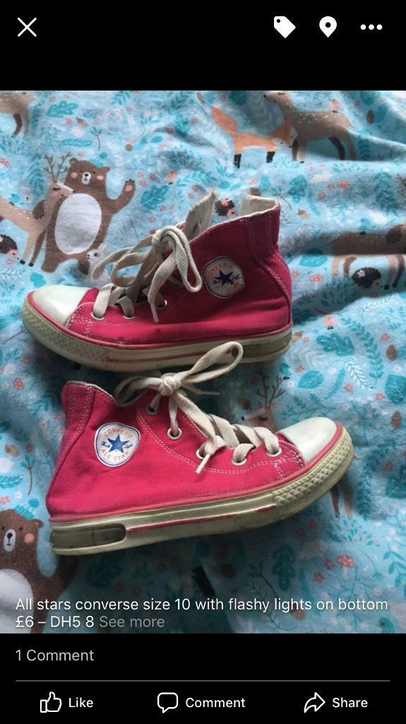 Pink converse size 10