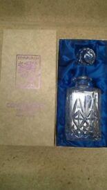 Edinburgh Crystal Continental Collection Decanter - NEW in presentation box ,26 cm high x 10 cm wide
