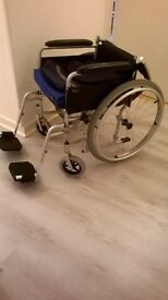 self proppelled lightweight wheelchair with detachable wheels