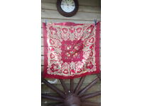 Ladies scarf/shawl for head, neck or hip, 76cm x 76cm, very good condition, beautiful