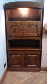 drinks / display cabinets - Pair, probably oak