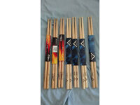 Set of Vater Matrix and Zildjan signature sticks + Vic Firth Heritage Brushes brand new!!!!