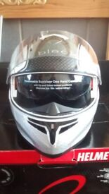 Black Optimus SV Tour Flip Front Helmet Size M.