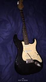 Black Squire Guitar barely used perfect condition
