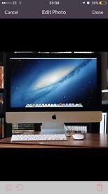 Apple iMac mid 2011 desktop computer wireless mouse keyboard