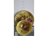 BROOKDALE VINTAGE CUP+SAUCER FABULOUSLY HAND PAINTED WITH FRUITS +GOLD SEE PHOTOGRAPHS A1 CONDITION.