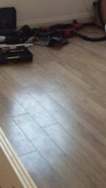 Laminate flooring used