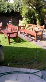 Christmas-Extra seating: Patio-Conservatory-Smoking Areas Quality Heavy Benches from £350 ea or set.
