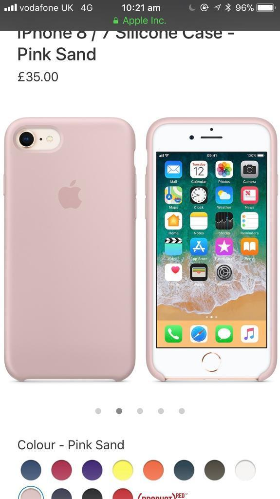 Iphone 8 7 Silicone Case Pink Sand In Dalston London Gumtree