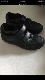Clarks boy school shoes 1 1/2 G (one & a half G)