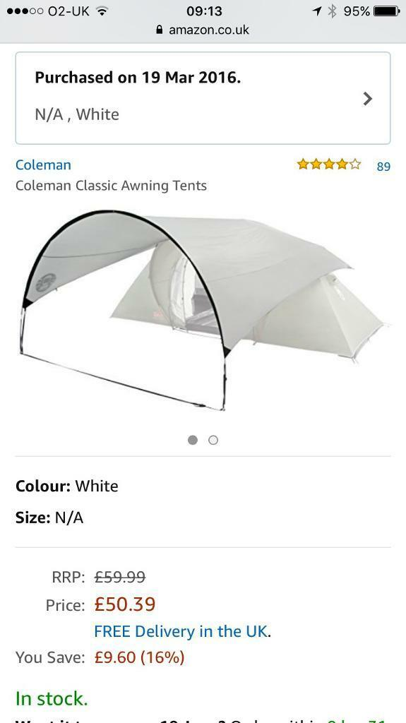 Coleman Classic Awning (205081) | in Fairwater, Cardiff ...