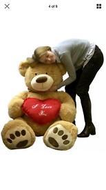 8 foot I love you teddy bear