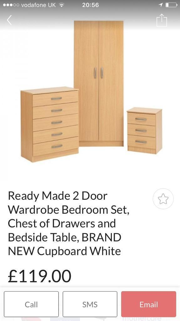 Cupboard, chest of drawers, side table