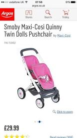 Quinny Dolls Twin Prams