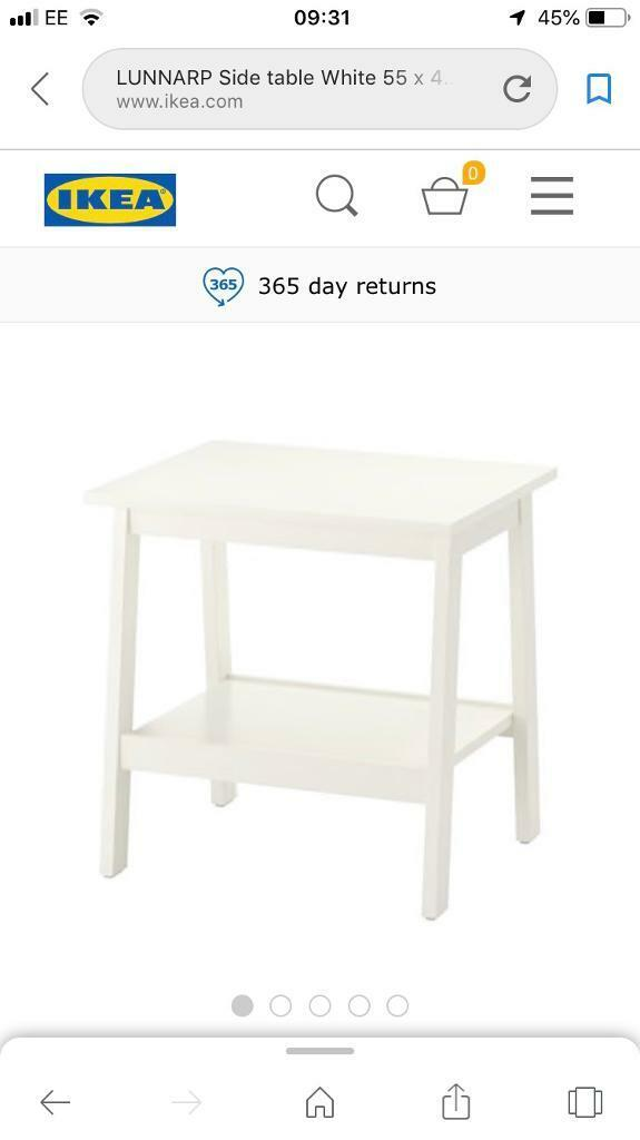 low priced 68515 1bbf2 Ikea 'Lunnarp' brand new side table | in Worcester Park, London | Gumtree