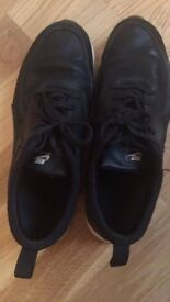Black waterproof Nike Thea Trainers in Leather finish, new condition, size 6.5
