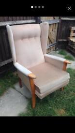 Vintage Jilly Wingback Armchair