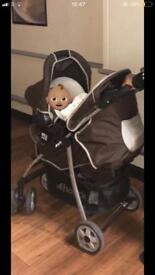 Winnie the Pooh buggy and Carseat